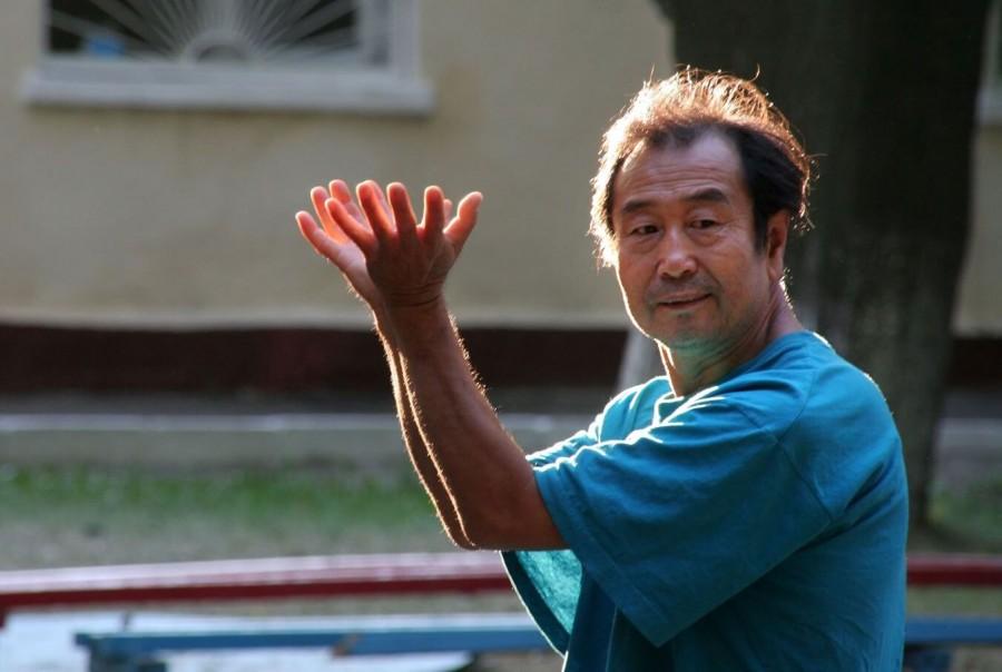 семинар Одесса ушу Му Юйчунь выполняет багуачжан