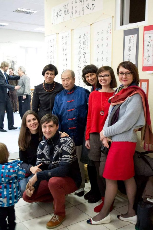 Каллиграфы, верные наставлениям мастера Му Юйчуня)