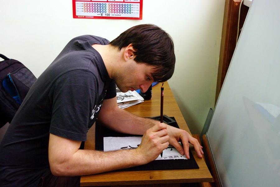 Много внимания уделяем нюансам техники письма. на фото: Андрей Черняев