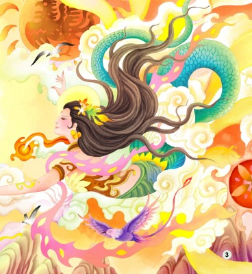 goddess-nuewa-patches-up-the-sky-cd-rom-chinese-graded-readers-pre-intermediate-900-words-isbn-9787561935453-2