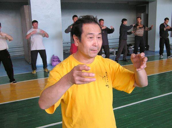 Му Юйчунь на одном из семинаров по ушу в Одессе