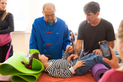 Мастер Му Юйчунь, Михаил Акопянц, семинар для Особенных Детей, Одесса, март 2017
