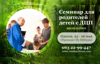 Семинар для родителей Особенных детей с ДЦП и другими заболеваниями. Одесса, май, 2017